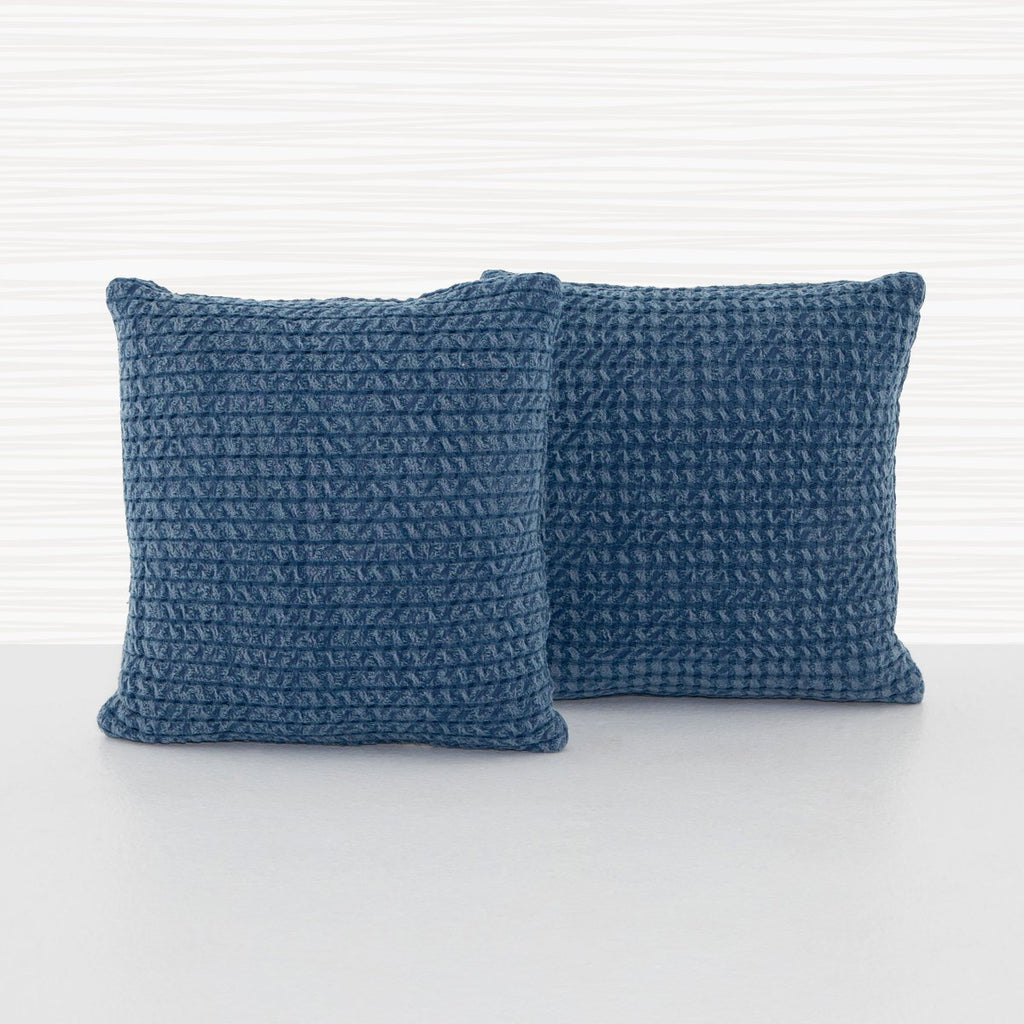 Abella Vintage Blue Pillow, Set Of 2