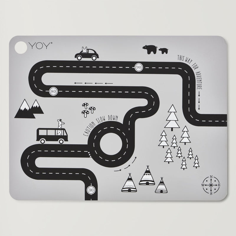 Adventure Placemat in Grey