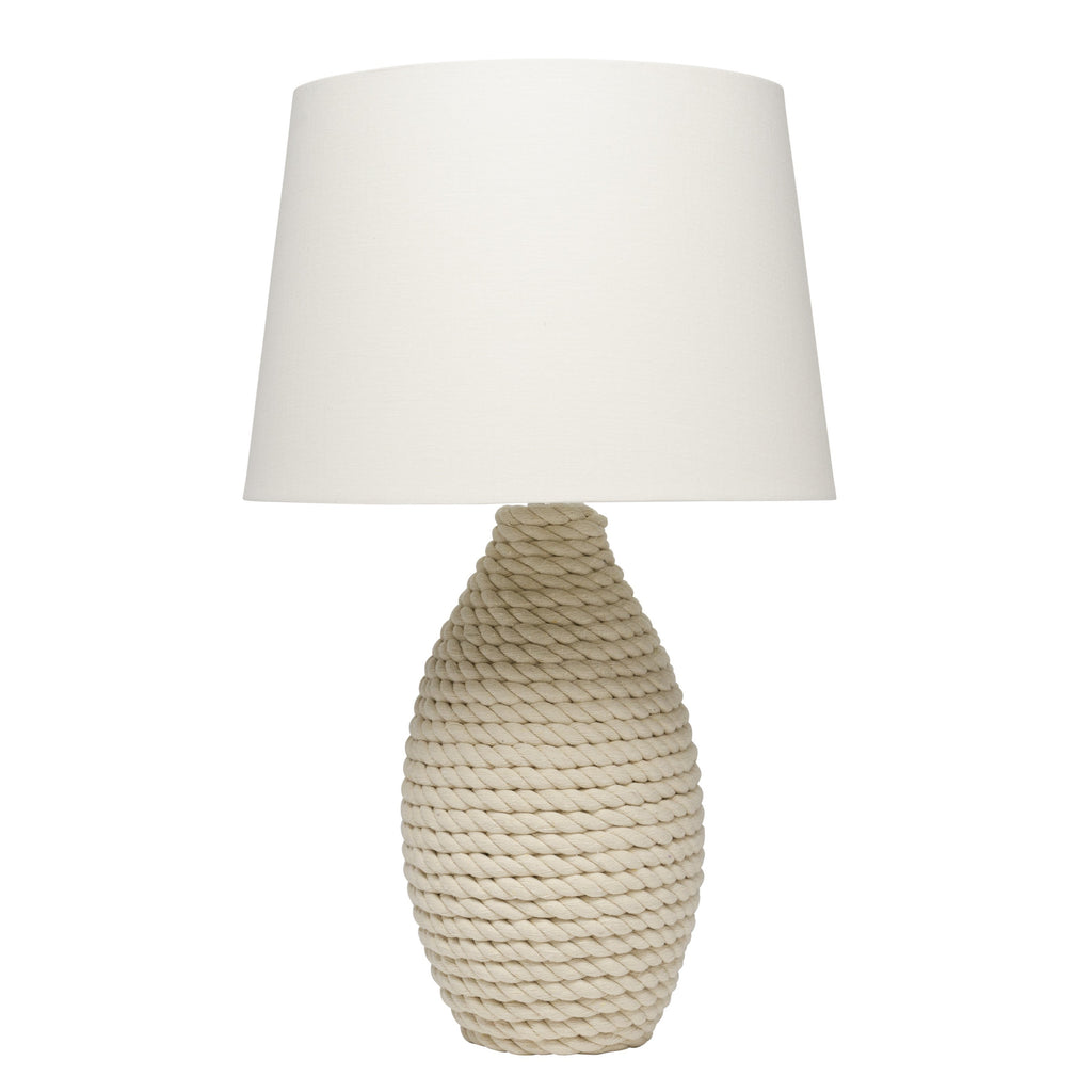 Rope Table Lamp with Tapered Shade