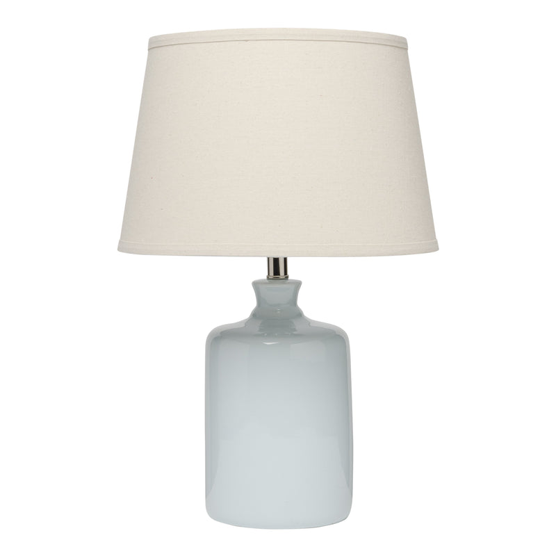 Light Blue Milk Jug Table Lamp with Tapered Shade