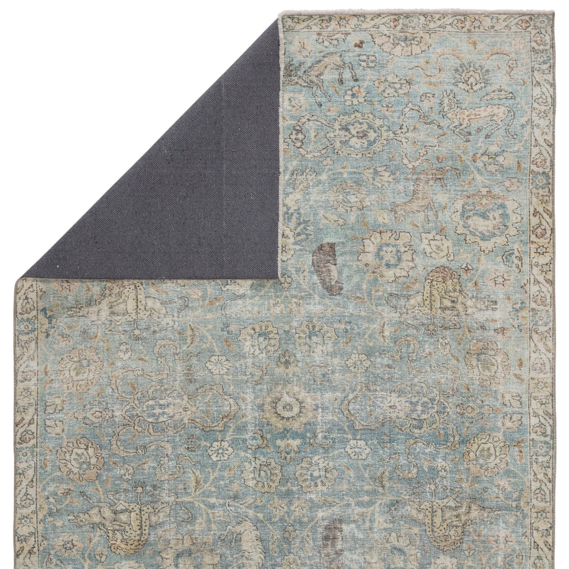 Stag Oriental Teal/ Gold Rug