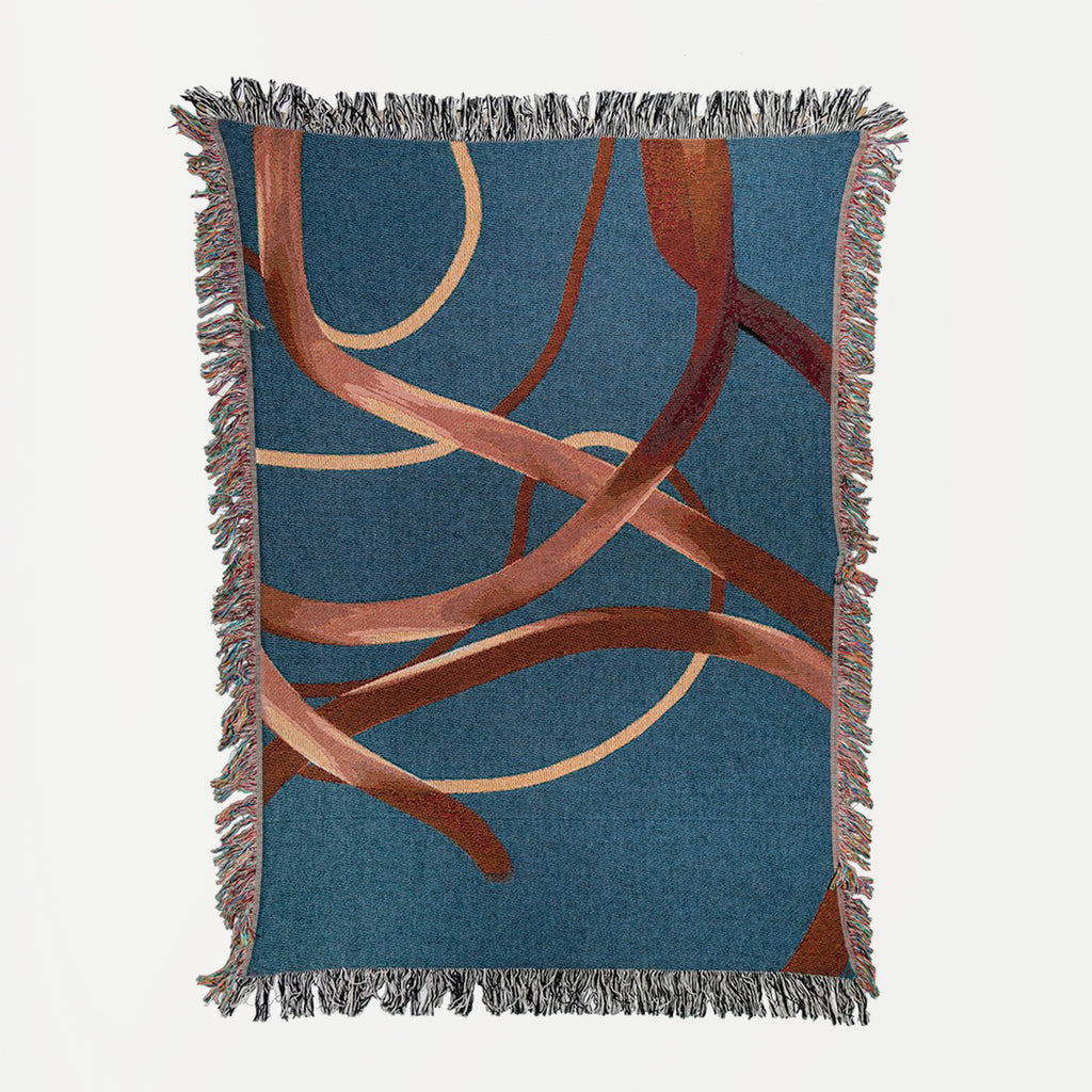 Blue Wander Woven Throw