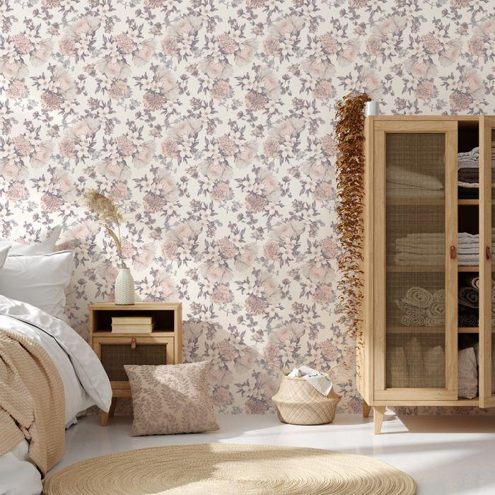 Botanical Floral Removable Wallpaper in Blossom