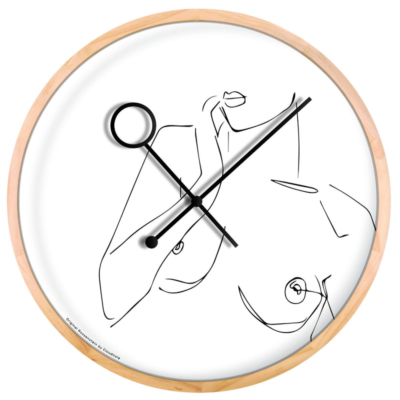 Line Art Boobie Wall Clock