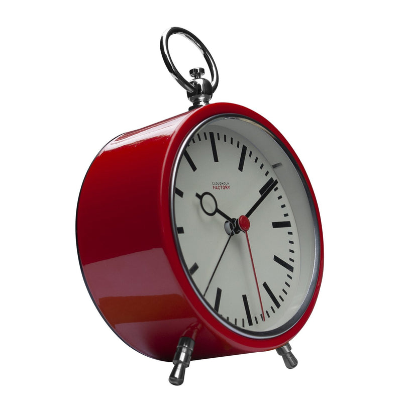 Factory Red Station Alarm Clock