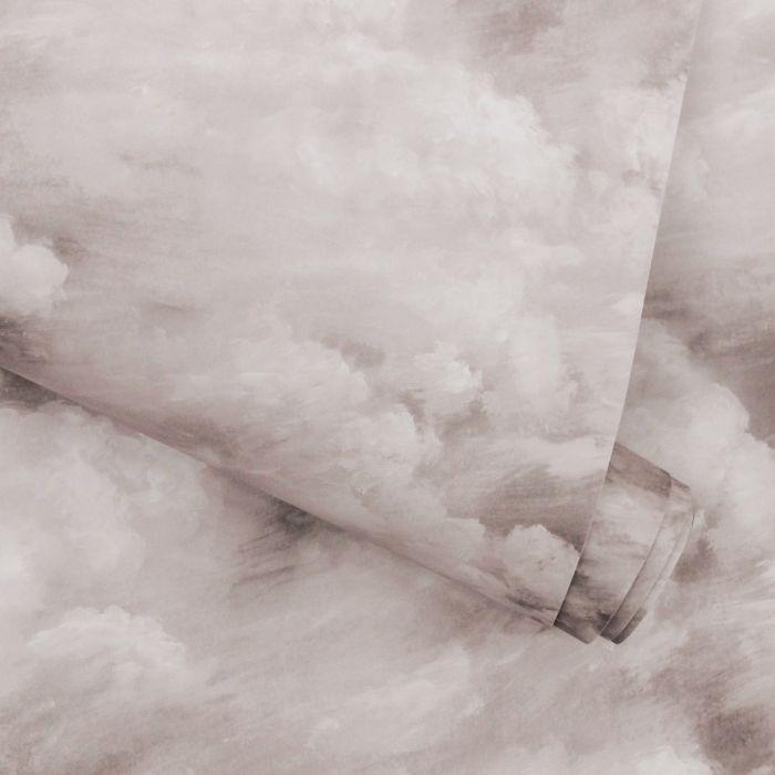 Clouds Removable Wallpaper in Fog Grey
