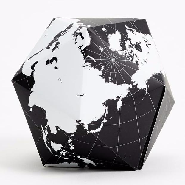 Dymaxion Folding Globe in Black & White design by Areaware