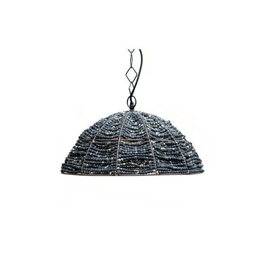 Eshan Distressed Wooden Pendant by BD Edition I