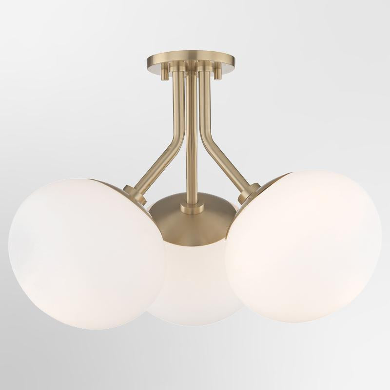 Estee 3 Light Semi Flush