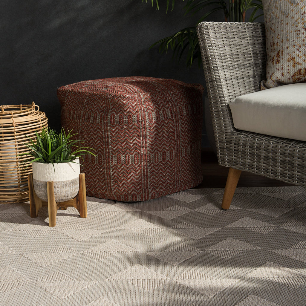 Zemira Indoor/ Outdoor Geometric Cream Rug