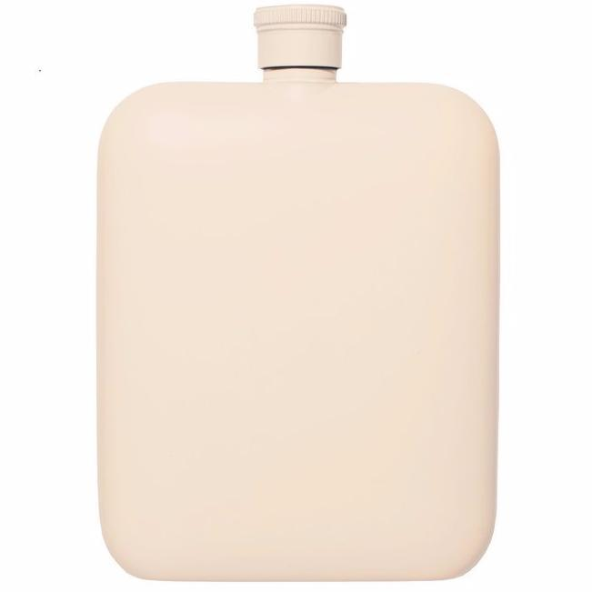 Cream 6oz Flask w/ Canvas Carrier design by Izola