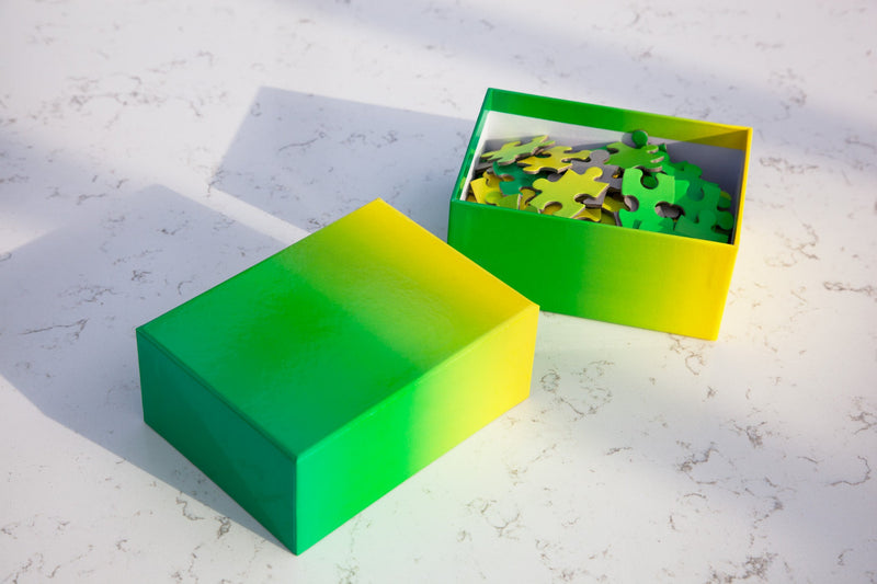 Gradient Puzzle Small in Green & Yellow
