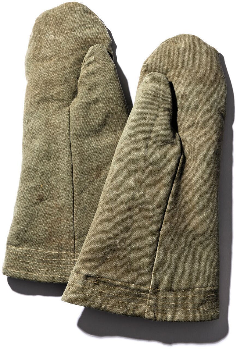 Vintage Tent Fabric Mittens