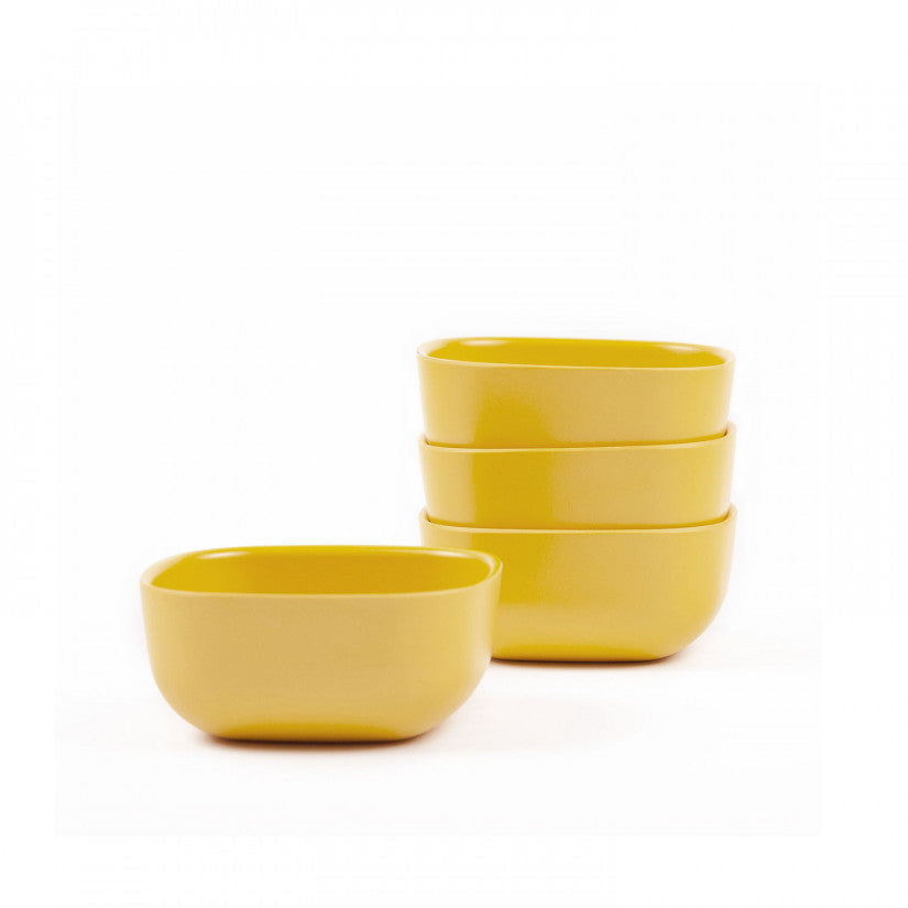 Gusto Small Bamboo Bowl in Various Colors (Set of 4) design by EKOBO