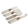 Marble and Wood Cheese Tool Set
