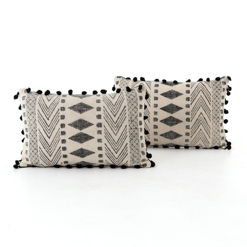 Faded Block Print Pillow Set of 2