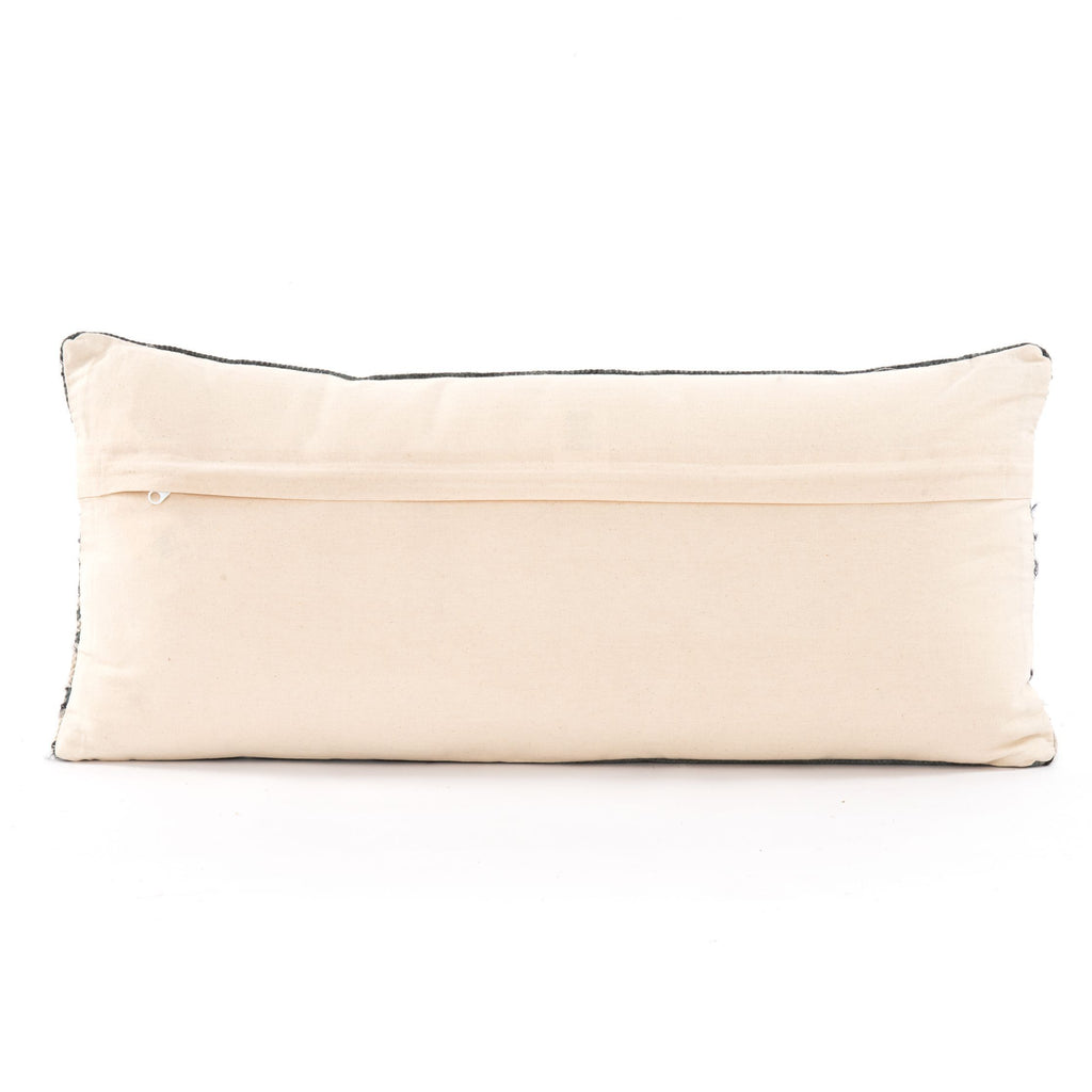 Silk Ribbon Lumbar Pillow Set of 2