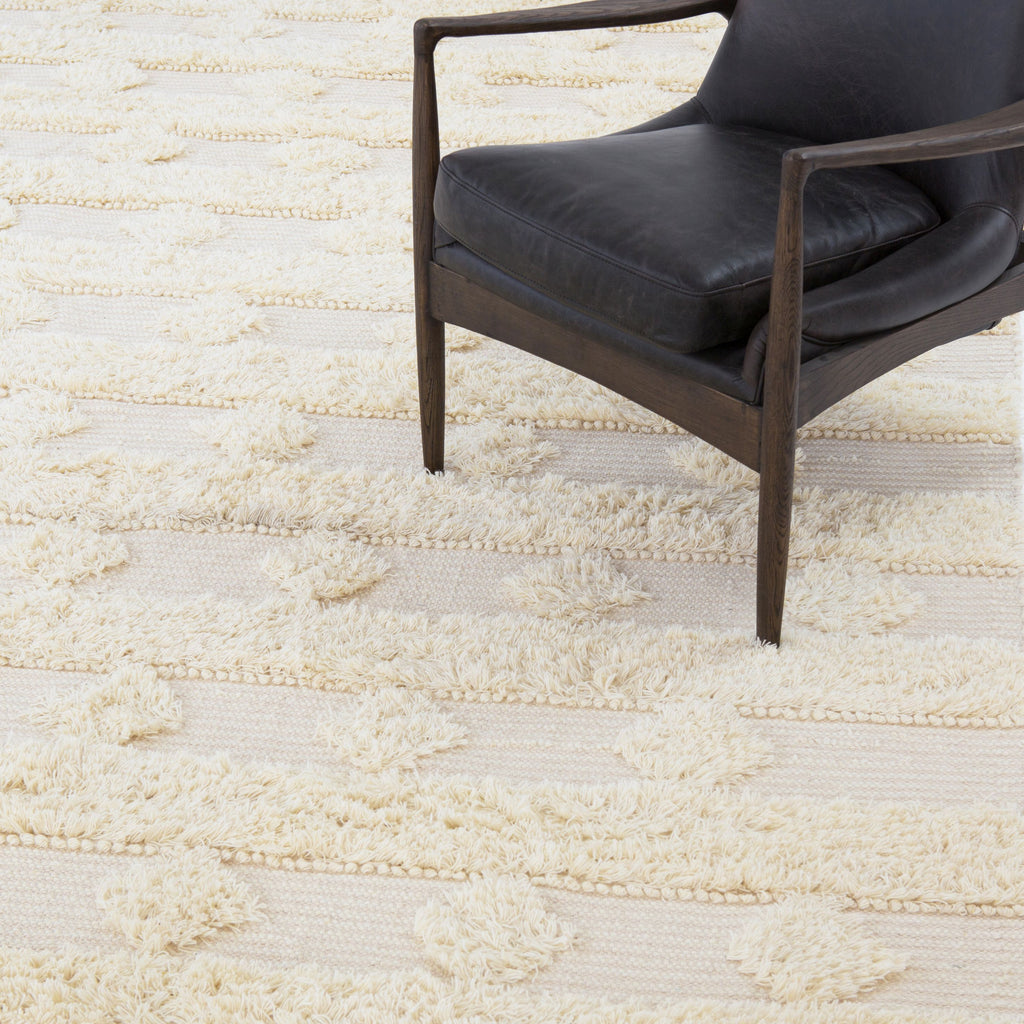 Beige Diamond Stripe Rug