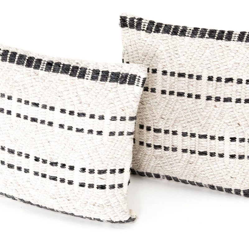 Grey Patterned Pillow Set of 2