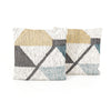 Cream Color Block Pillow Set of 2