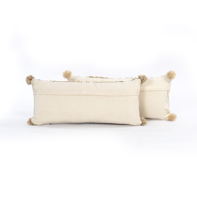 Braided Pom Pom Pillow