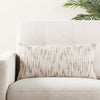 Linnean Stripe White & Gray Throw Pillow