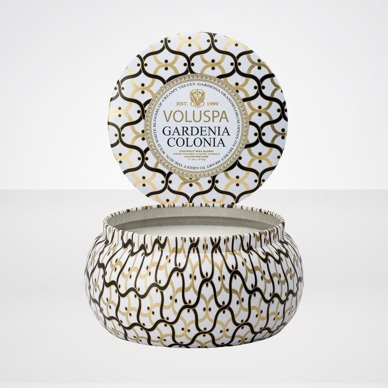 Maison Metallo 2 Wick Candle in Gardenia Colonia
