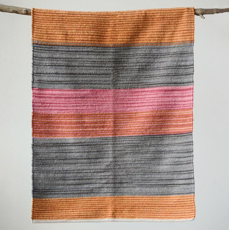 Multi Color Woven Striped Rug