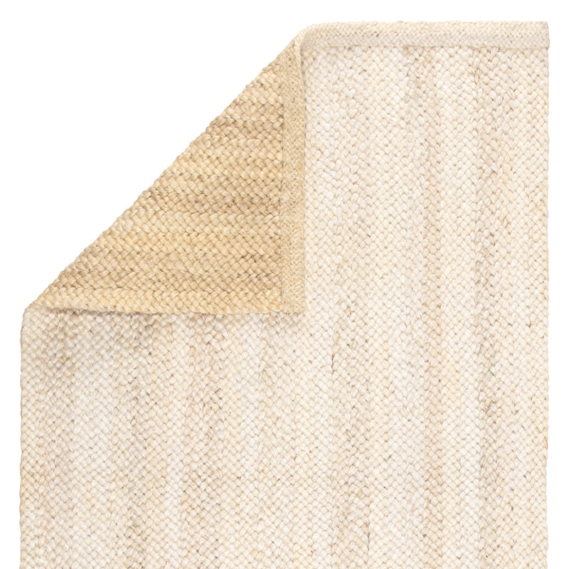 Anichini Natural Solid Ivory & Beige Area Rug