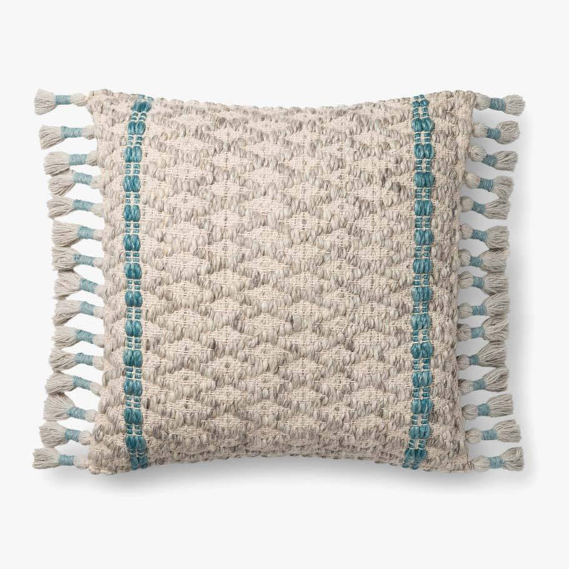 Grey & Blue Pillow