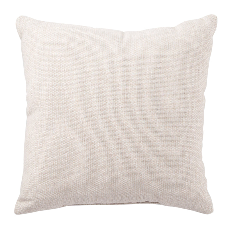 Chesapeake Indoor/Outdoor Solid Cream Pillow design by Jaipur Living