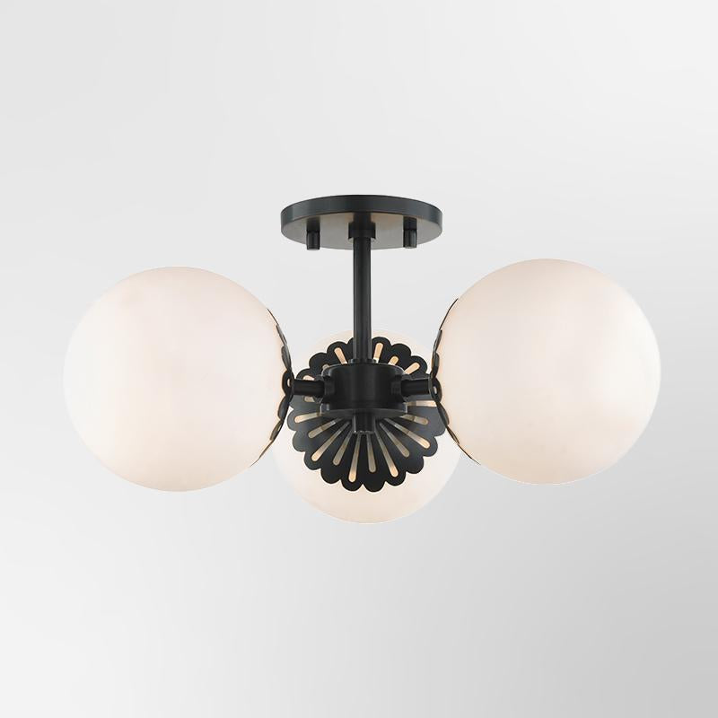 Paige 3 Light Semi Flush
