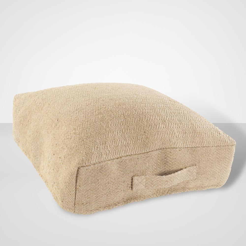 Palmetto Jute Floor Pillow