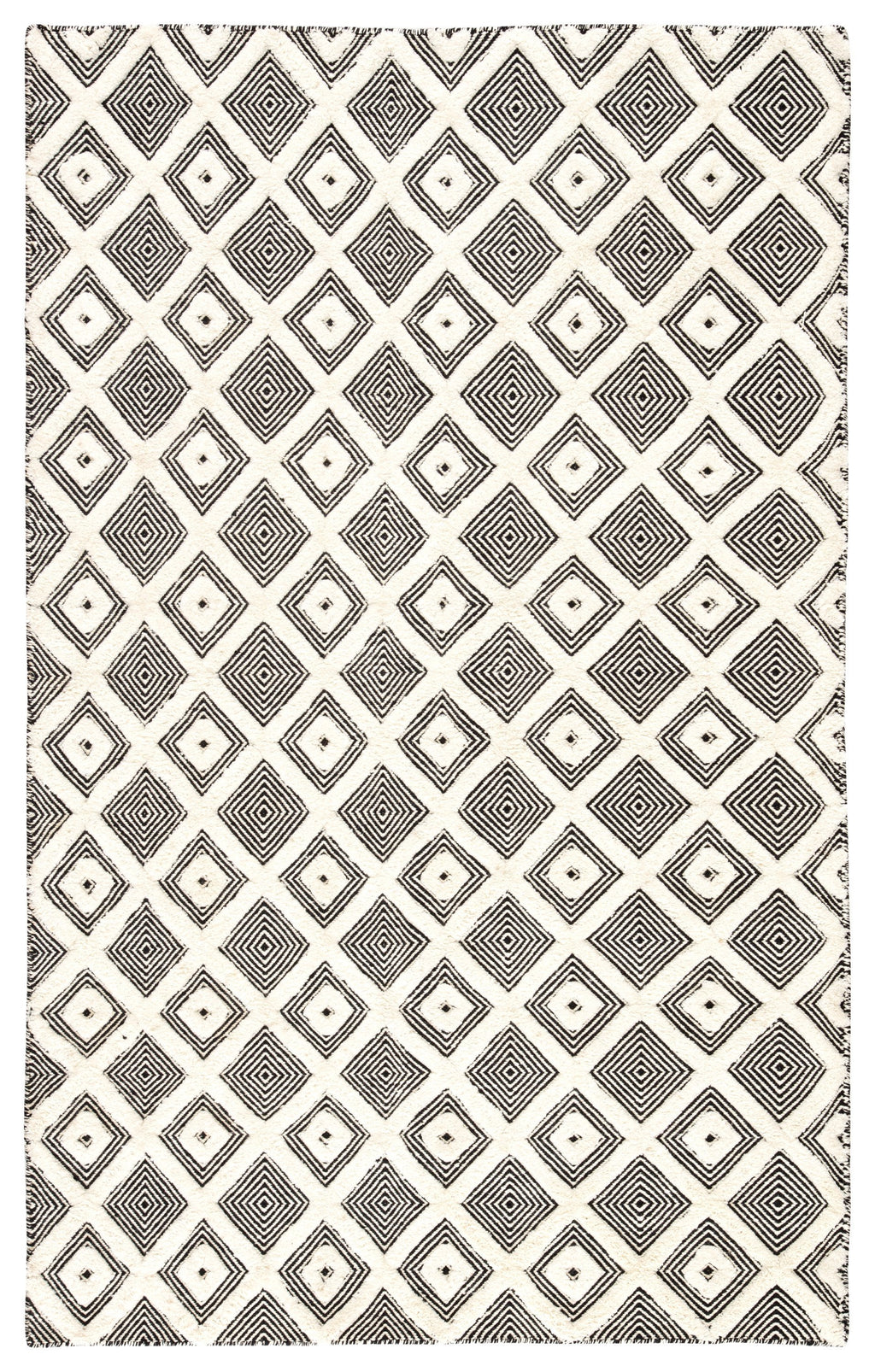 Bosc Indoor/ Outdoor Trellis Ivory & Black Area Rug