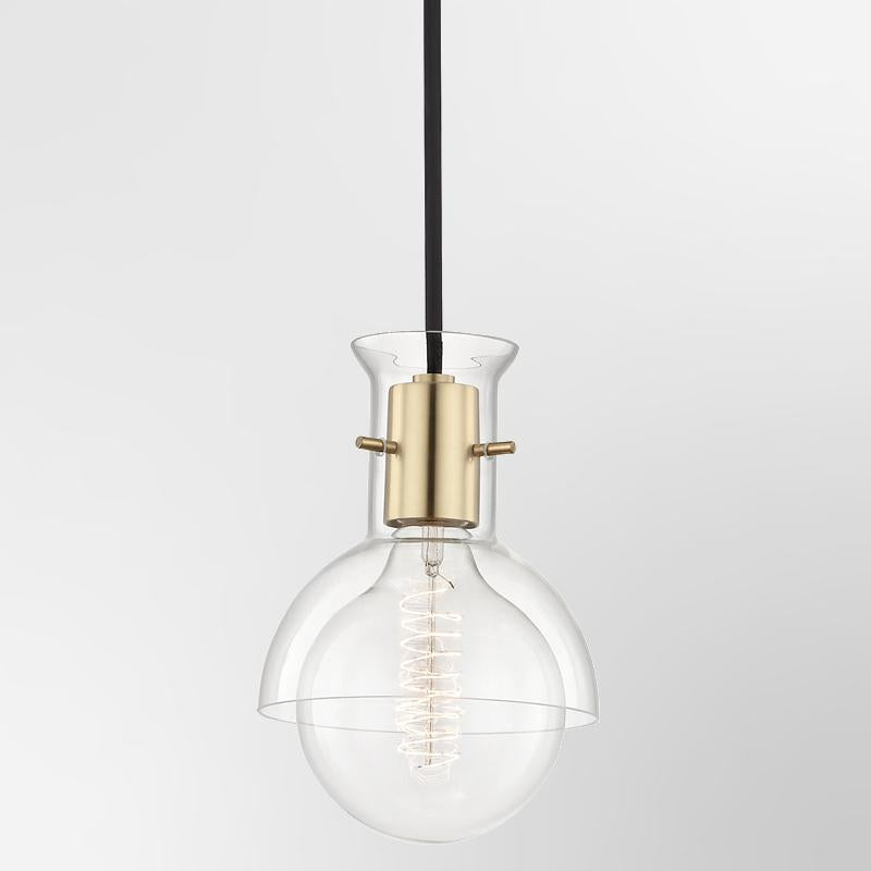 Riley 1 Light Pendant With Glass