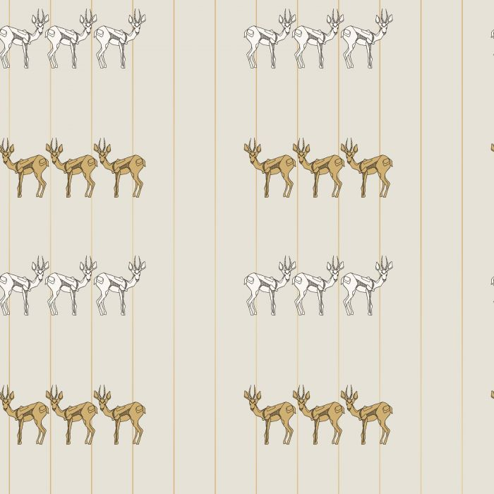 Spirit Animal Removable Wallpaper in Ivory