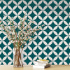 Terrazzo Star Removable Wallpaper in Teal