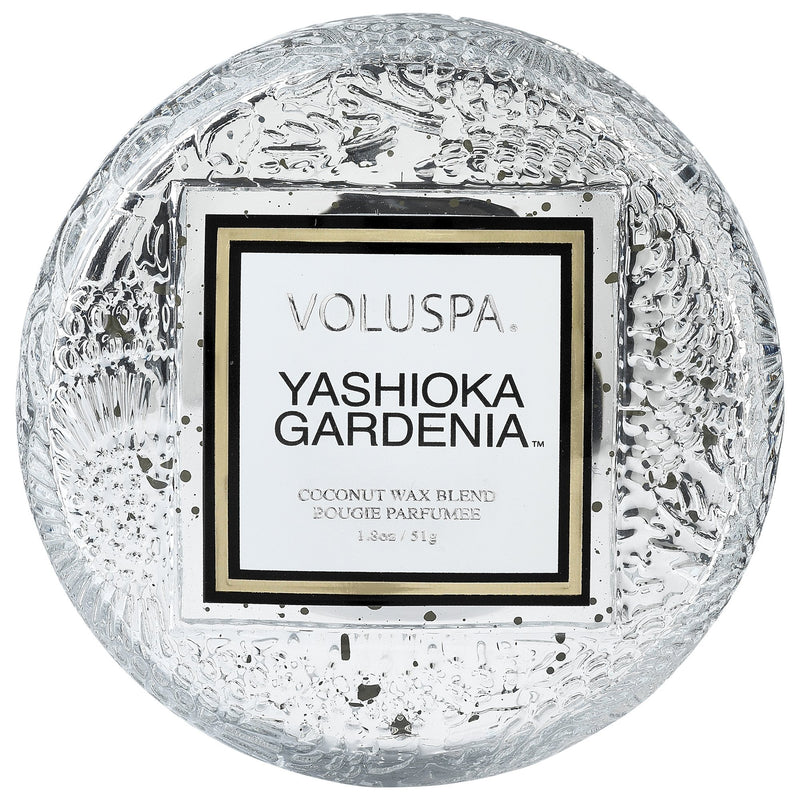 Macaron Candle in Yashioka Gardenia design by Voluspa