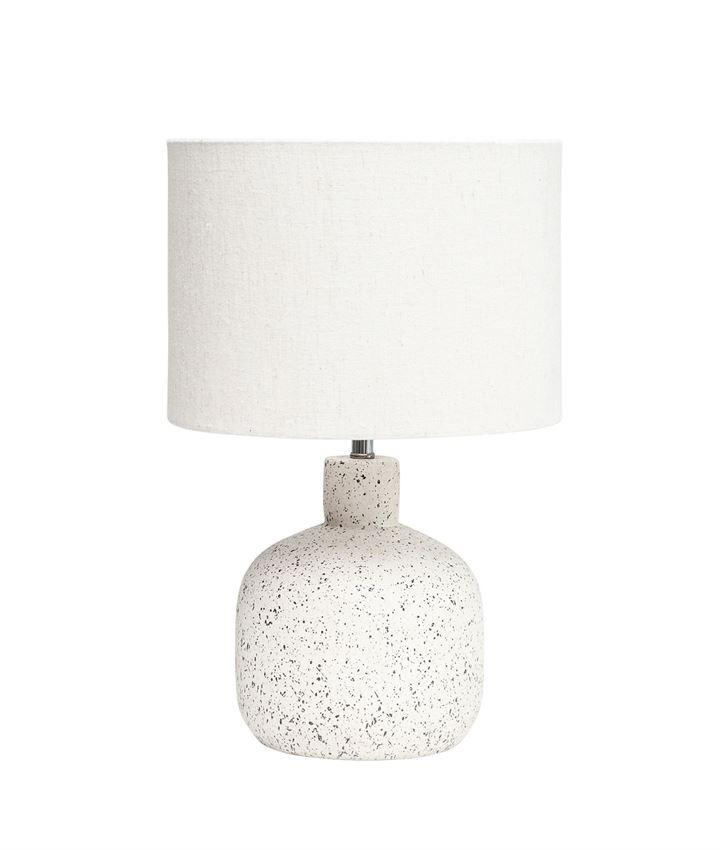 White With Black Speckle Terracotta Table Lamp
