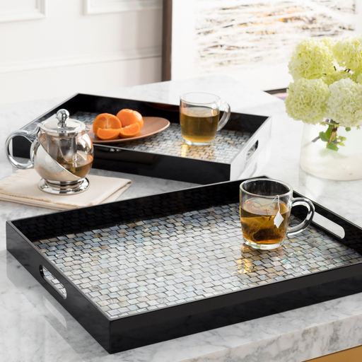 Alessandra Decorative Tray Set in Various Colors