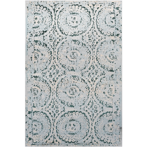 Asia Minor Rug in Blue & Gray