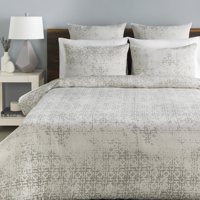Abstraction Bedding in Light Grey