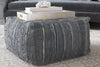 Anthracite Pouf in Grey design by Surya