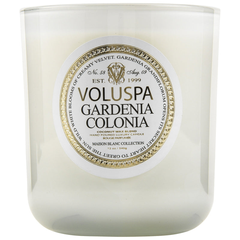 Classic Maison Candle in Gardenia Colonia design by Voluspa
