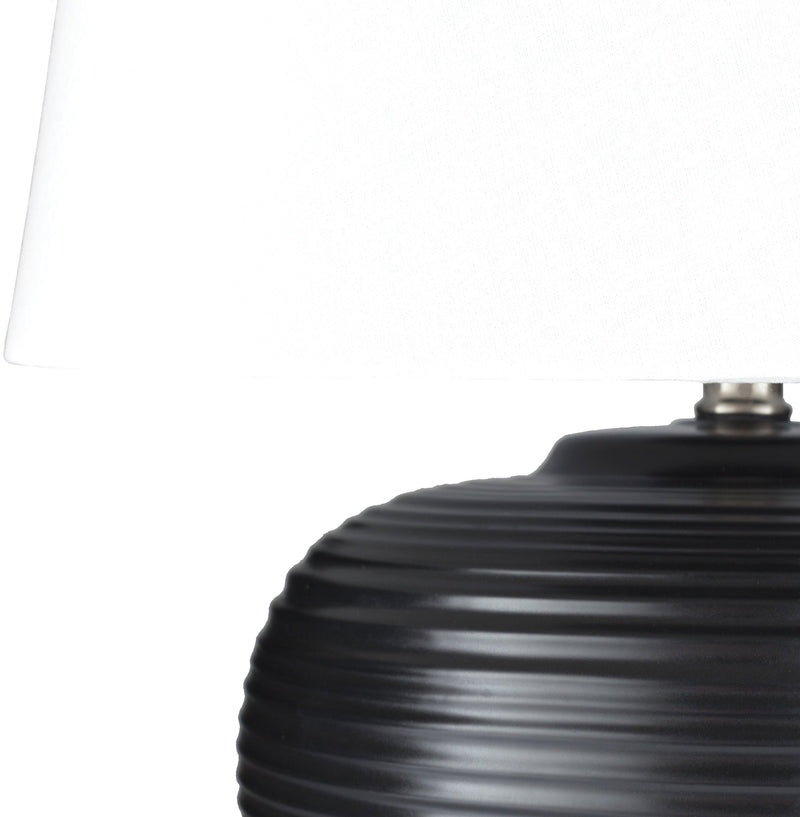 Bixby Table Lamp in Black & White