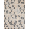 City Rug in Taupe & Light Gray