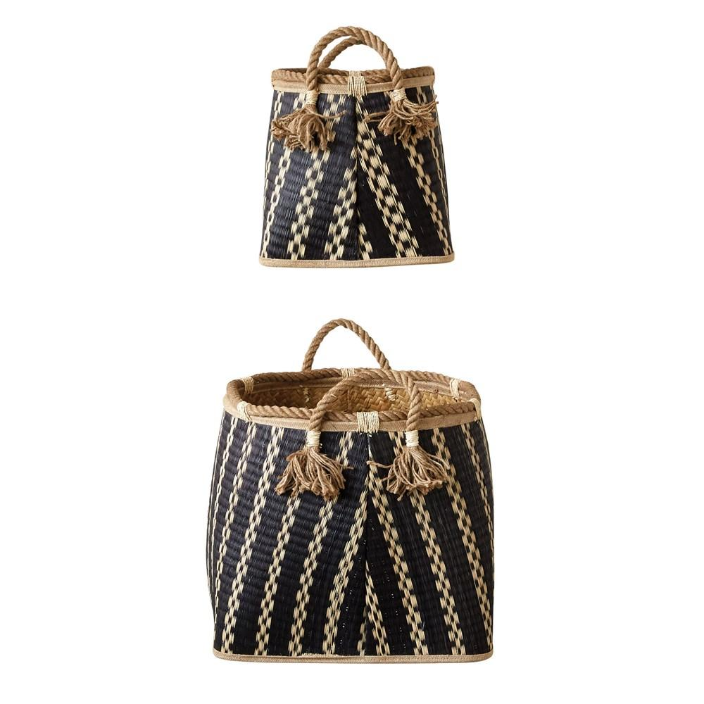 Wicker Basket with Rope Handles Baskets - Set of 2