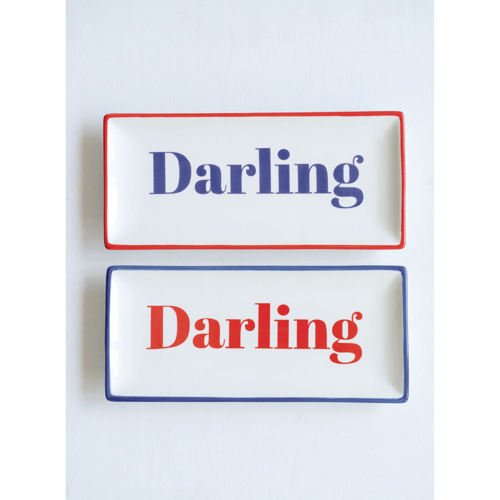 """Darling"" Stoneware Plate, 2 Assorted Styles"