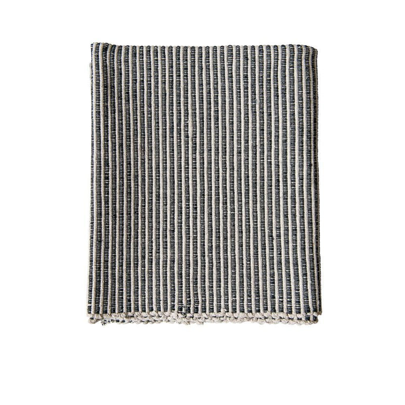 Black & White Stried Durrie Rug