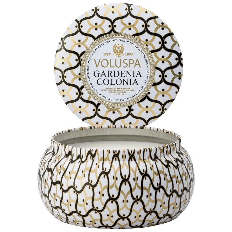 Maison Metallo 2 Wick Candle in Gardenia Colonia design by Voluspa